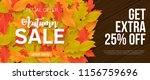 autumn sale background with... | Shutterstock .eps vector #1156759696