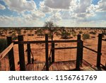 view from a safari lodge onto...   Shutterstock . vector #1156761769