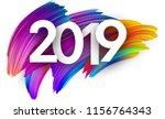 white 2019 new year background... | Shutterstock .eps vector #1156764343