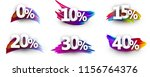 sale or discount tags with... | Shutterstock .eps vector #1156764376