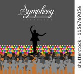 orchestra in a theater | Shutterstock .eps vector #1156769056