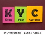 know your customer  kyc ... | Shutterstock . vector #1156773886