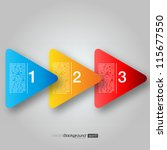 next step arrow boxes   eps10... | Shutterstock .eps vector #115677550