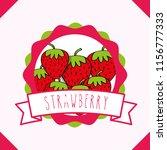 fresh strawberry natural fruit... | Shutterstock .eps vector #1156777333