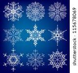 snowflakes.  vector  set eps 10. | Shutterstock .eps vector #115678069