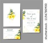 Wedding Invitation Yellow Bell...