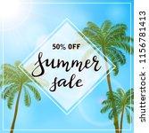 banner with lettering summer... | Shutterstock .eps vector #1156781413
