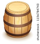 wooden oak barrel for wine... | Shutterstock .eps vector #1156784743