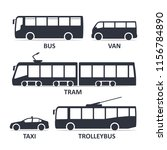 public transport type icons set.... | Shutterstock .eps vector #1156784890