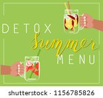 detox summer menu colorful... | Shutterstock .eps vector #1156785826