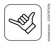 call me icon. shaka sign. make...