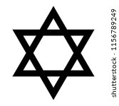 star of david. hexagram sign.... | Shutterstock .eps vector #1156789249