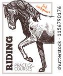 design for horse riding poster... | Shutterstock .eps vector #1156790176