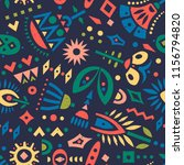 vector seamless pattern of... | Shutterstock .eps vector #1156794820