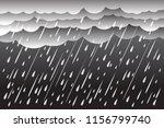 heavy rain in dark sky  rainy...   Shutterstock .eps vector #1156799740
