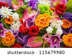 Stock photo bunch of flowers 115679980