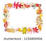 autumn composition. frame made...   Shutterstock . vector #1156800406