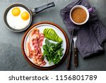 ketogenic diet breakfast. fried ... | Shutterstock . vector #1156801789