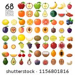 big collection of pixel fruits  ... | Shutterstock .eps vector #1156801816