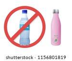 reusable water bottle instead... | Shutterstock .eps vector #1156801819