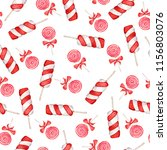 seamless pattern with red and... | Shutterstock . vector #1156803076