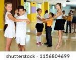 smiling children studying of... | Shutterstock . vector #1156804699