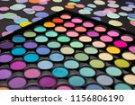 make up eyeshadow palette with... | Shutterstock . vector #1156806190