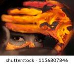 bodyart portrait of a girl | Shutterstock . vector #1156807846