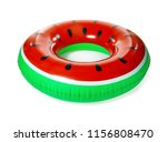 bright inflatable ring on white ... | Shutterstock . vector #1156808470