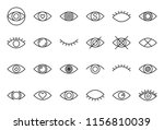 simple eye outline icon  pixel... | Shutterstock .eps vector #1156810039