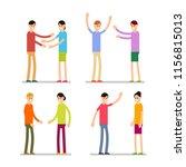 set people happy. young happy... | Shutterstock . vector #1156815013