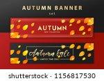 trendy and elegant autumn... | Shutterstock .eps vector #1156817530