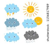 vector set with different... | Shutterstock .eps vector #1156817989