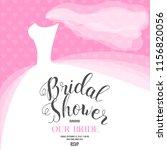 bridal shower invitation | Shutterstock .eps vector #1156820056