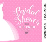 bridal shower invitation | Shutterstock .eps vector #1156820083