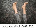 legs of beautiful young woman... | Shutterstock . vector #1156821250