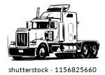 classic american truck. black...   Shutterstock .eps vector #1156825660