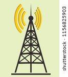 tower transmitter silhouette | Shutterstock .eps vector #1156825903
