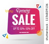 sale opening banner up to 30  ... | Shutterstock .eps vector #1156839136