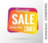 opening sale banner special... | Shutterstock .eps vector #1156839403