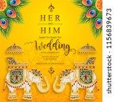 wedding invitation card... | Shutterstock .eps vector #1156839673