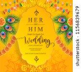 wedding invitation card... | Shutterstock .eps vector #1156839679