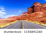 red rock canyon highway road... | Shutterstock . vector #1156841260