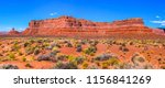 red rock canyon panoramic... | Shutterstock . vector #1156841269