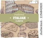 vintage template with rome... | Shutterstock .eps vector #1156842820