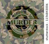 murder on camo pattern | Shutterstock .eps vector #1156843006