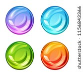 colored shiny drops set on a... | Shutterstock .eps vector #1156843366