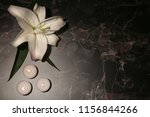 beautiful lily with burning... | Shutterstock . vector #1156844266