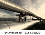 industrial pipelines on pipe... | Shutterstock . vector #115685029