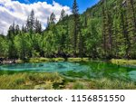 amazing blue geyser lake in the ... | Shutterstock . vector #1156851550
